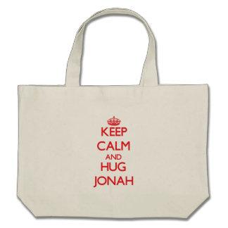 Keep Calm and HUG Jonah Tote Bag