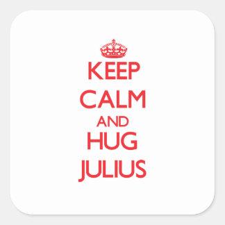 Keep Calm and HUG Julius Sticker