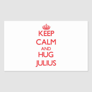 Keep Calm and HUG Julius Rectangle Sticker