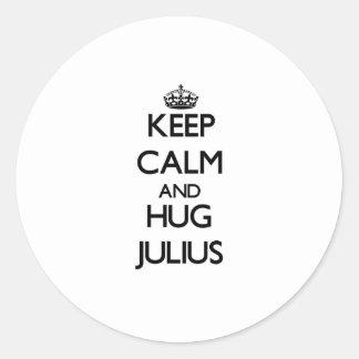 Keep Calm and Hug Julius Stickers