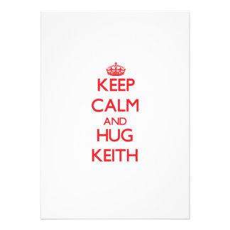 Keep calm and Hug Keith Custom Announcement