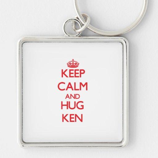 Keep Calm and HUG Ken Key Chain