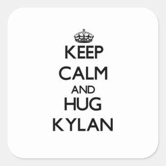 Keep Calm and Hug Kylan Square Sticker