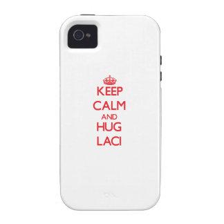 Keep Calm and Hug Laci iPhone 4 Covers