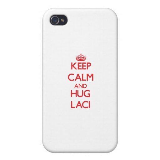 Keep Calm and Hug Laci iPhone 4/4S Cases