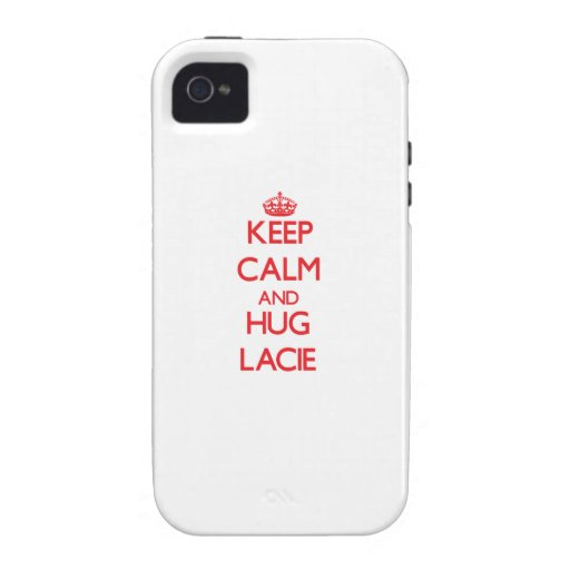 Keep Calm and Hug Lacie Vibe iPhone 4 Cases