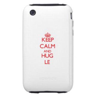 Keep calm and Hug Le Tough iPhone 3 Covers
