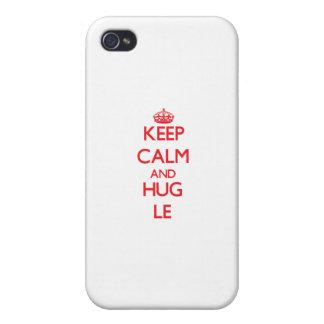 Keep calm and Hug Le iPhone 4 Covers