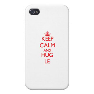 Keep calm and Hug Le Cover For iPhone 4