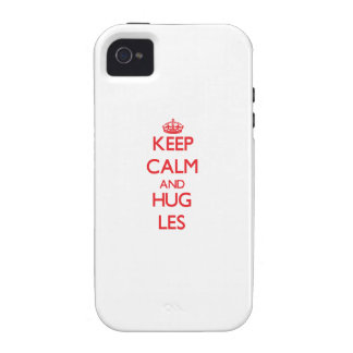 Keep Calm and HUG Les Vibe iPhone 4 Cover