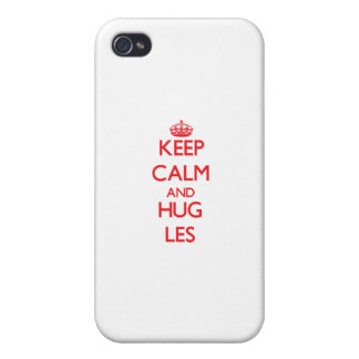 Keep Calm and HUG Les Cases For iPhone 4