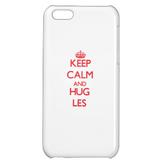 Keep Calm and HUG Les iPhone 5C Covers