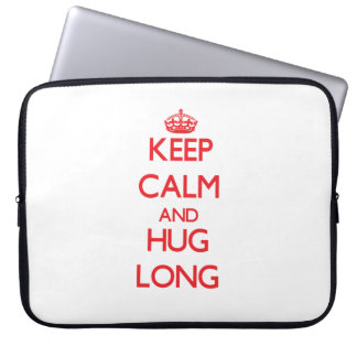 Keep calm and Hug Long Laptop Sleeve