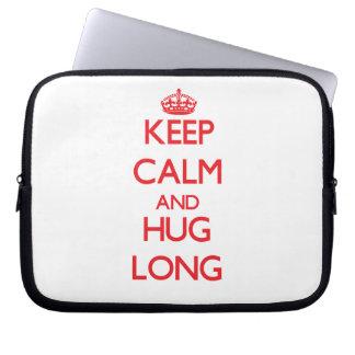 Keep calm and Hug Long Laptop Sleeves