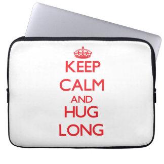 Keep calm and Hug Long Laptop Computer Sleeve