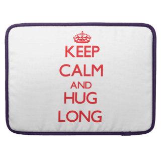 Keep calm and Hug Long Sleeve For MacBooks