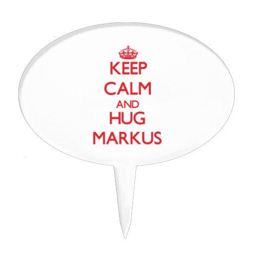 Keep Calm and HUG Markus Cake Pick