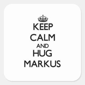 Keep Calm and Hug Markus Sticker