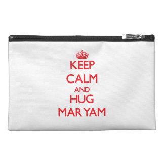 Keep Calm and Hug Maryam Travel Accessories Bag