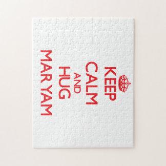 Keep Calm and Hug Maryam Jigsaw Puzzle