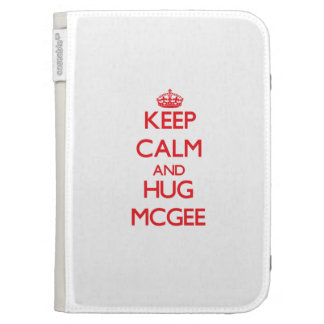 Keep calm and Hug Mcgee Kindle 3G Cover