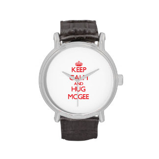 Keep calm and Hug Mcgee Wristwatches