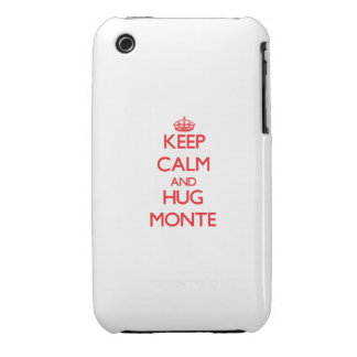 Keep Calm and HUG Monte iPhone 3 Case