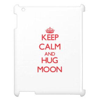 Keep calm and Hug Moon iPad Cover