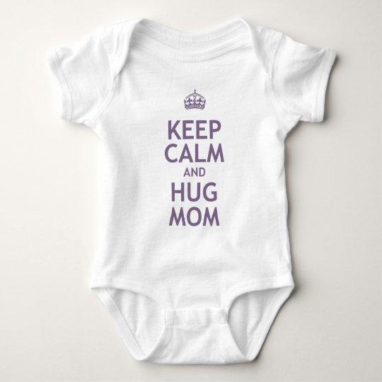 Keep Calm and Hug Mum Baby Bodysuit