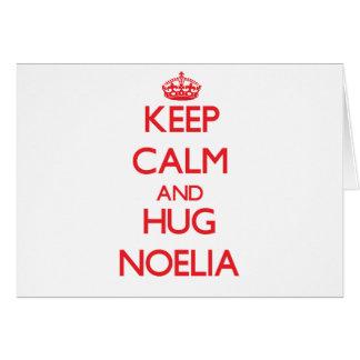 Keep Calm and Hug Noelia Cards