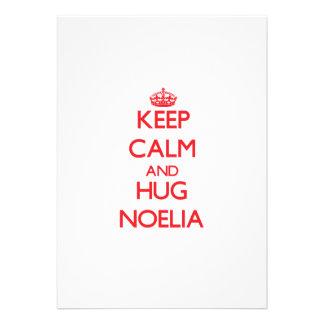 Keep Calm and Hug Noelia Invitations