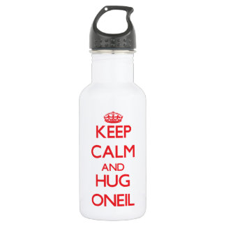 Keep calm and Hug Oneil 18oz Water Bottle