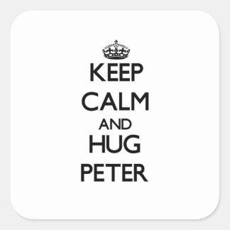 Keep Calm and Hug Peter Sticker