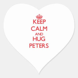 Keep calm and Hug Peters Stickers