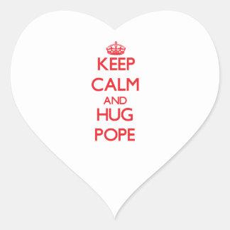 Keep calm and Hug Pope Stickers