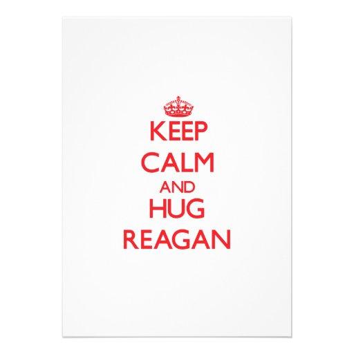 Keep Calm and Hug Reagan Invitation