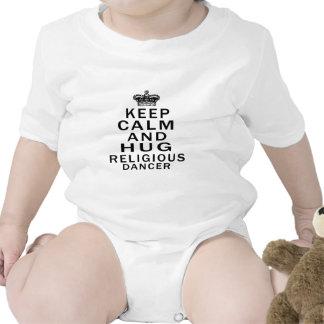 Keep Calm And Hug Religious Dancer Baby Bodysuit