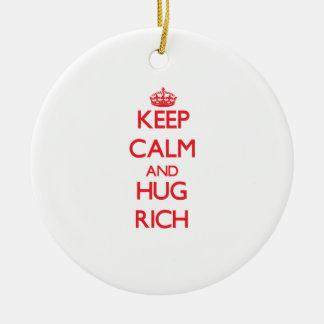 Keep Calm and HUG Rich Ornaments
