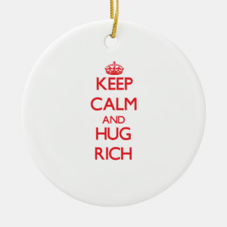 Keep calm and Hug Rich Christmas Ornament