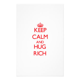 Keep calm and Hug Rich Personalized Stationery