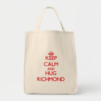 Keep calm and Hug Richmond Grocery Tote Bag