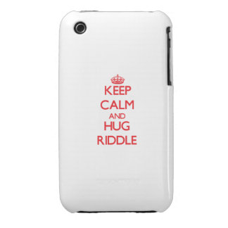 Keep calm and Hug Riddle iPhone 3 Case