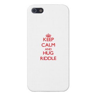 Keep calm and Hug Riddle Case For iPhone 5/5S