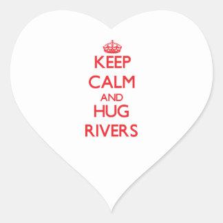 Keep calm and Hug Rivers Sticker