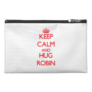 Keep Calm and HUG Robin Travel Accessories Bags