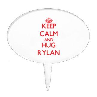 Keep Calm and HUG Rylan Cake Topper