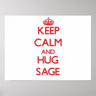 Keep Calm and HUG Sage Posters