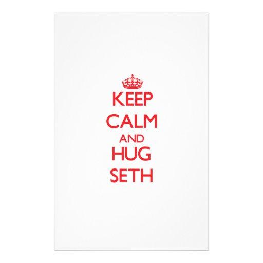 Keep Calm and HUG Seth Stationery Design