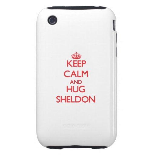 Keep Calm and HUG Sheldon Tough iPhone 3 Case