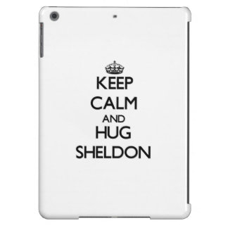 Keep Calm and Hug Sheldon iPad Air Covers